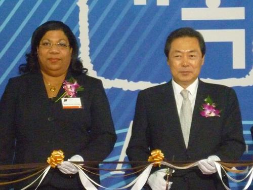 Opening Ceremony: Ms Nolda C. Römer-Kenepa ICA VP CITRA and Mr Hyung Kyu Maeng, Minister of Public Administration and Security