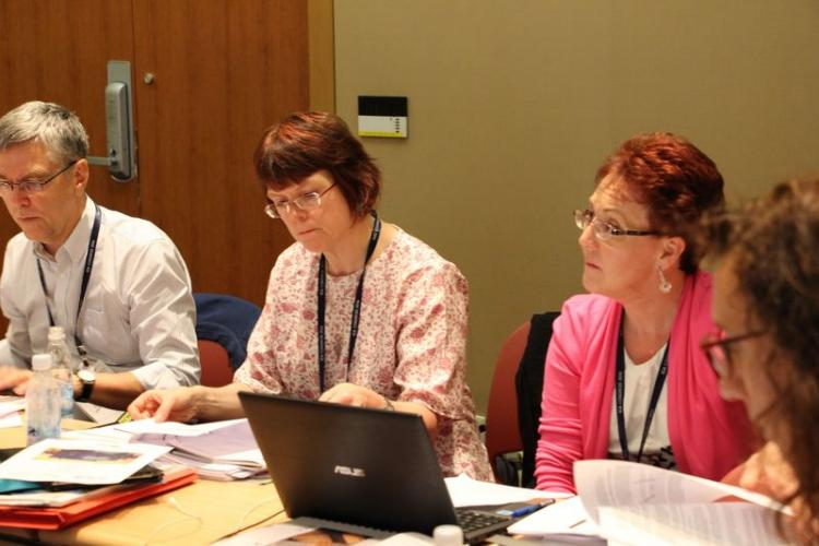 PCOM Meeting 5 september 2016, Normand Charbonneau, Margaret Crockett, Monique Nielsen
