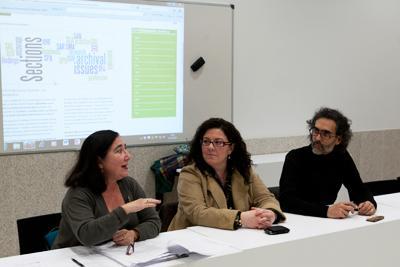 Cruces, Cagijas and Carrascal at the meeting. Cruces, Cagijas et Carrascal