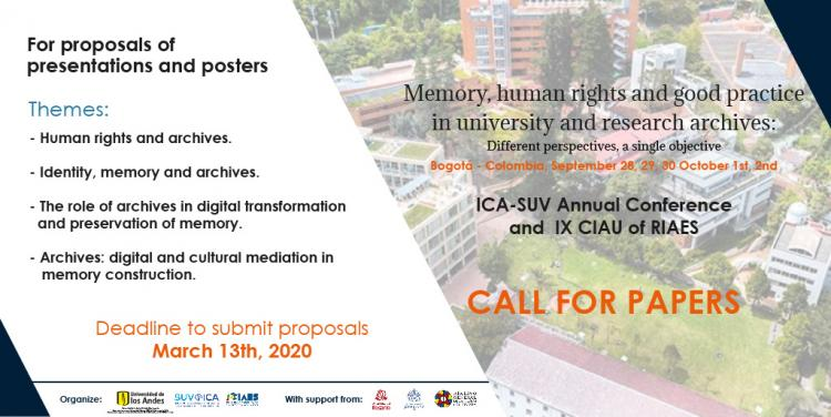 Call for proposals - SUV conference 2020