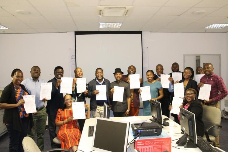 Training session in Gaborone, Botswana, by Abel M'kulama and Dr Nathan Mnjama