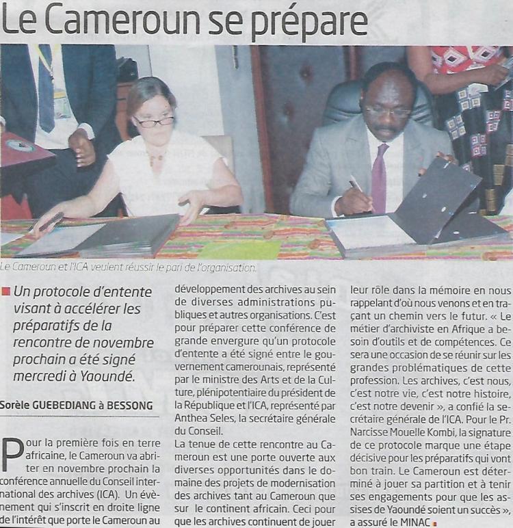 Signature MOU ICA Yaounde 2018, press release