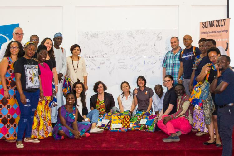 SOIMA 2017 Africa Programme Forget Chaterera Group photo after a public symposium on Sustaining Sound & Image Collections
