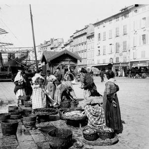 Vue du marche, collection des Archives Municipales de Marseille