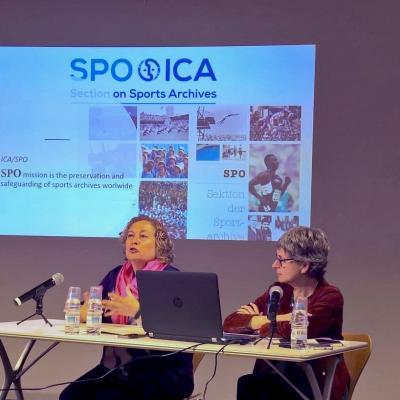 ICA/SPO, internacional section. Fina Solà, president of ICA/SPO