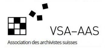 AAS Association des archivistes suisses, logo, droits réservés