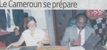ICA Yaounde 2018 logo, MOU signature