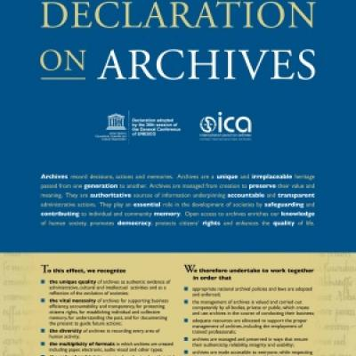 Universal Declaration on Archives